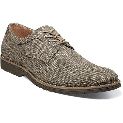 With the Stacy Adams Eli Plain Toe Oxford, we took a classic and gave it a contrasting EVA sole, a modern elongated profile, and a colorful textured canvas upper. The result is the perfect warm weather, head turner. Textured canvas upperLeather linings for added breathabilityFully cushioned insole with Memory Foam for all-day comfortLightweight and durable rubber/EVA sole