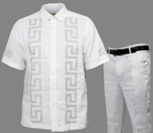 GQ offers a Luxury Two Piece Linen Set in a variety of colors and styles by Prestige.This show stopping get up will make you the main attraction as you walk through the doors.Prices are exclusive to online sales.