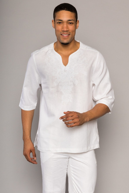 GQ offers a Luxury Two Piece Linen Set in a variety of colors and styles by Prestige.