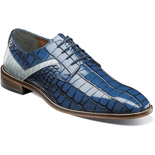 Ready to turn some heads? Then check out the Stacy Adams Triolo Plain Toe Oxford. This sleek oxford features a two-toned combo croco and lizard print upper with a genuine leather sole and a Memory Foam insole. Go ahead, take a walk on the wild side. Croco and lizard print leather upper Synthetic linings Fully cushioned insole with Memory Foam for all-day comfort Genuine leather outsole