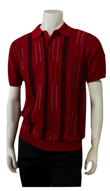 Polo Spring/Summer Knit - 1903  ALSO AVAILABLE IN RED, BLACK, CREAM  Retro Italian knit inspired polo shirt. The fit is relaxed and comfortable but yet dressy. Dress your best this spring & summer with our new collection.  FULL KNIT SHIRT IMPORTED 50% COTTON 50% RAYON