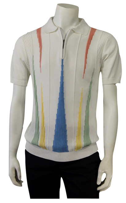 1/4 Zip Spring/Summer Knit - 1906 AVAILABLE IN WHITE OR BLACK  Retro Italian knit inspired 1/4 zip shirt. The fit is relaxed and comfortable but yet dressy. Dress your best this spring & summer with our new collection.  STRAIGHT BOTTOM HEM WITH SIDE VENTS 1/4 ZIP FULL KNIT SHIRT IMPORTED 50% COTTON 50% RAYON