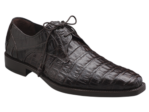 -Handsome PlainToe Exotic Bleucher Lace-Up-Genuine Crocodile with Crocodile-Wrapped Tassels-Soft Italian Calfskin Linings * The '1968 Collection'-Injected Memory Foam Cushioned Insole-Handmade in Joint Collaboration with Mezlan Production Facilities in Spain and Mexico