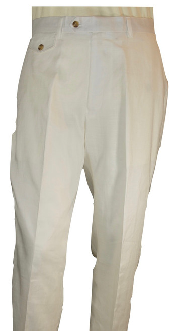 100% Linen   Introducing our best-selling Cigar Linen Pants made of luxurious, medium-weight, 100% linen. Our first-ever zip fly, button closure, Italian-style linen pants designed especially for the summer or your beach wedding! Features belt loops along with side and back slit pockets.  Available in PINK, BANANA, BLACK, WHITE, NAVY (not pictured)  Feel free to contact us for any inquiries.