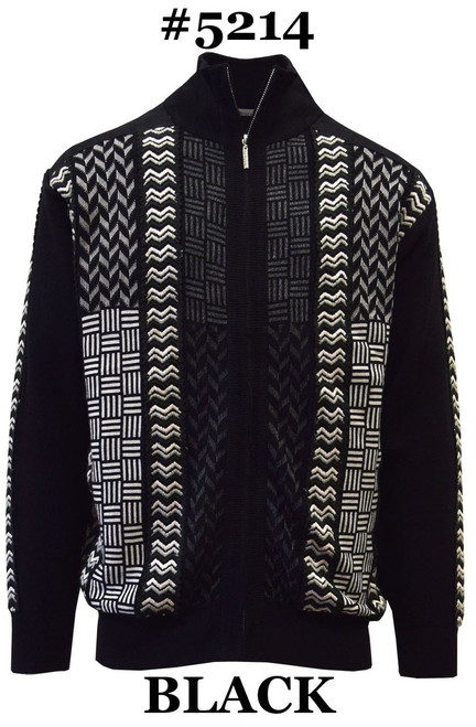 SilverSilk Knitted Full Zipper Designer Sweater Jacket  Full Zip Front Suede Trim Cardigan Style Mock Neck  BASKET WEAVE DESIGN WITH COORDINATED TAPE  Made of an expensive feeling rayon/acrylic/silk blend that you'll appreciate the moment you pull it over your head.  This stylish sweater will not only look great on you with jeans and slacks but feel great as well.  Prices exclusive to online sales.