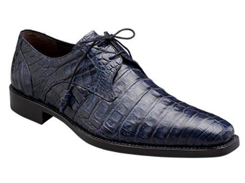 Handsome PlainToe Exotic Bleucher Lace-Up