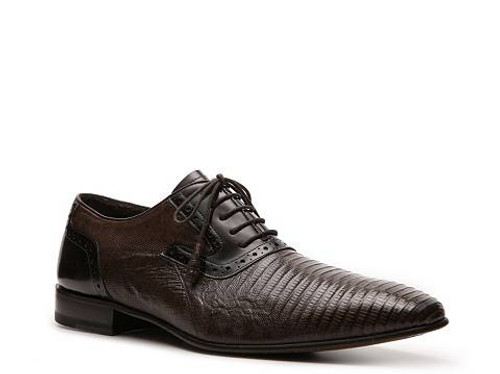 Mezlan Cambridge Lizard shoe in Dark Brown. Prices are exclusive to online sales.
