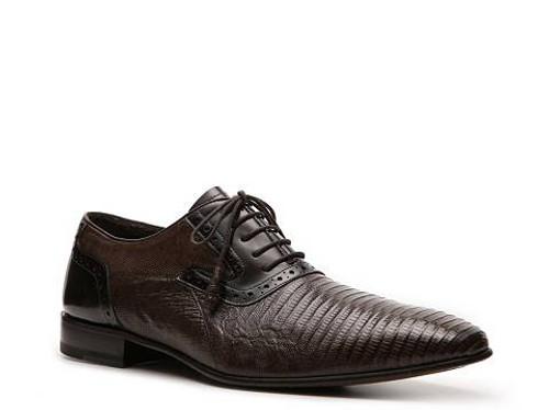 Mezlan Cambridge Lizard shoe in Dark Brown. Prices are exclusive to online sales.