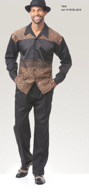 Montique's leisure suits are perfect for the man who prefers to be well dressed at every occasion. Montique is well known for their comfort and this suit is no different. It is made of very comfortable fabric that doesn't restrict movement.