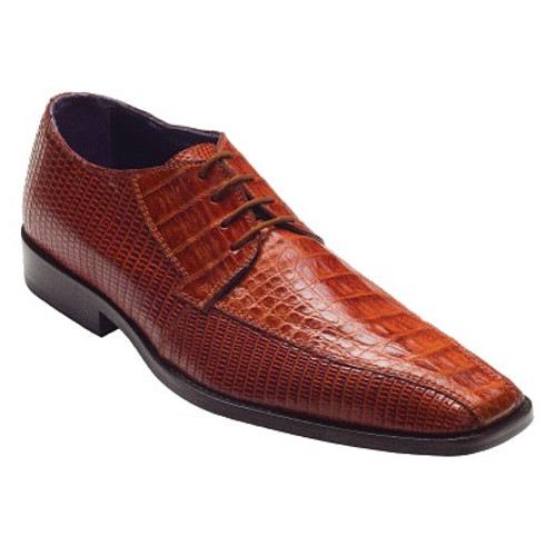 """""""Gino"""" by David x a croodile and lizard shoe in Cognac"""
