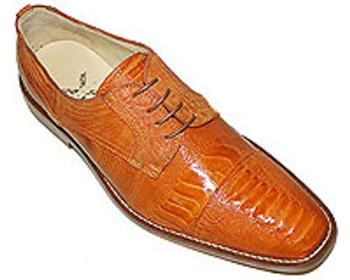"""Omar"" by David x a genuine ostrich shoe in caramel"