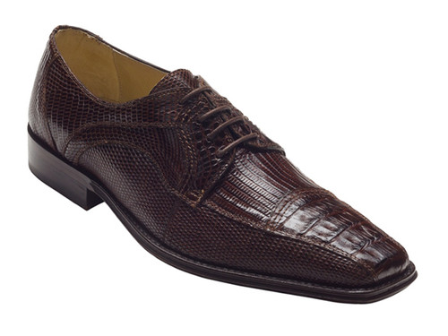 """""""Cuomo"""" by David x a genuine croocodile shoe in Brown. Prices are exclusive to online sales."""