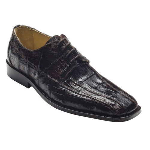 """""""Capi"""" by David x a genuine lizard shoe in Dark Brown. Prices are exclusive to online sales."""