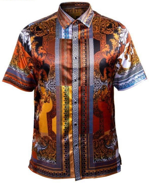 Luxurious satin shirt will have you noticed from across the room.  Weather its a causal vibe your looking for or a classy look, this shirt will serve for all purposes.