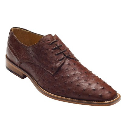 """""""Orlando"""" by David x a genuine ostrich in Brown. Prices are exclusive to online sales."""