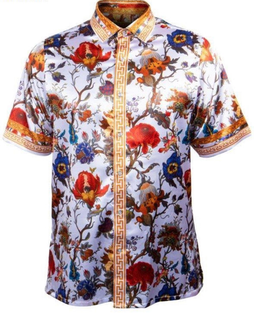 Luxurious satin shirt will have you noticed from across the room.  Weather its a causal vibe your looking for or a classy look, this shirt will serve for all occasions.