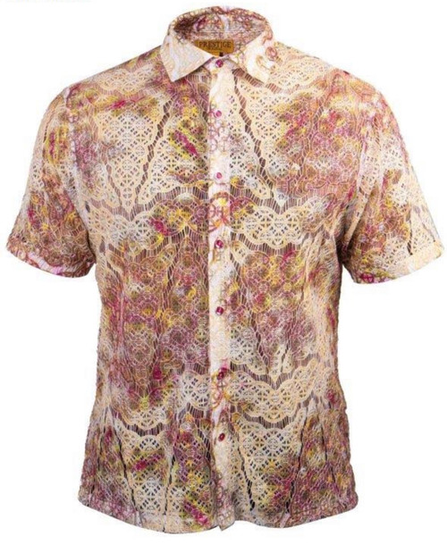 Luxurious Lace shirt will have you noticed from across the room.  Weather its a causal vibe your looking for or a classy look, this shirt will serve for all occasions.