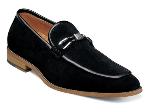 A slip on that's got it going on, the two-tone suede upper of the Stacy Adams Colbin Moc Toe Ornament Strap Slip On will have you feeling comfortable and looking good.