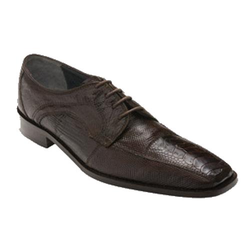 """Kumon"" by David x a genuine crocodile and lizard shoe in Brown"