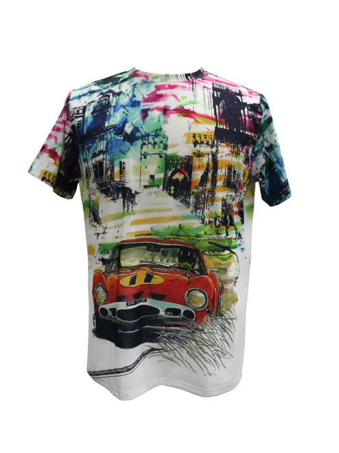 BROOKLYN 1991 | THE VINTAGE MOTOR T-SHIRT BY STEVEN LAND  This multi color T-shirt  features a dope vintage print on the front and the back. Pair it with jeans and boots or dress it up with a jacket.   Trim Fit Printed Available in big and tall sizes TS204 Air Dry Only