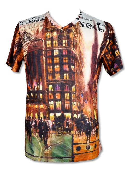 BROOKLYN 1991 | THE FRENCH QUARTER T-SHIRT BY STEVEN LAND  This French Quarter T-shirt  features the beautiful french quarter of France printed on the front and the back. Pair it with jeans, khakis, or dress it up with a Sport Jacket.  Trim Fit Printed TS93 Air Dry Only