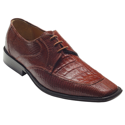 """""""Mory"""" by David x a genuine croocodile and lizard shoe in Cognac"""