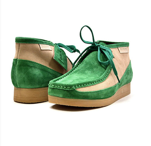 """This Classic British Walker Shoe is an original moccassin style from nature. British Walker's has added it's design to this new style,""""New Castle,"""" to fit for comfort. It comes in leather and suede. The 3/4 design and our patent side design comes in color combinations for your dress style. This comes in a TPR Sole for more feet comfort.    Features:  Vintage lace-up Hand Crafted Leather and Suede Sole Material: TPR Fit:M/W"""