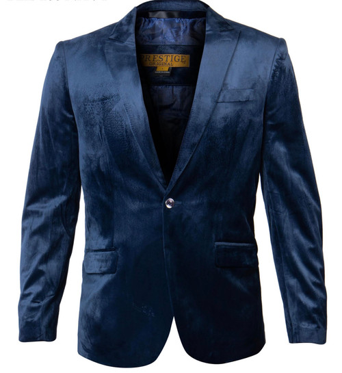 In a rich Prestige Velour, this stylish dinner jacket features hacking pockets and a notch lapel. Wear it to effortlessly create a formal look.  One button Notch lapel Side vents Fully lined Imported Dry Clean Only
