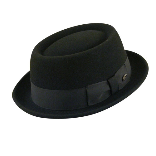 Our Breed group salutes the pioneers of style: the experimenters, the avant garde, the most intriguing troubadours of style. Our most directional, stylish and sophisticated hats sit in Breed. This hat is made with our famous LiteFeltå¨ finish, a revolutionary treatment process that takes a natural unstiffened premium wool felt hat and makes it water repellant and shape retentive. LiteFeltå¨ adds a tough and indestructible element, combining style and function and is our best selling finish. Matte black staple logo, nailhead detail on Japanese grograin. Comfort sweatband. 100% wool. Made in the USA. Prices are exclusive to online sales.