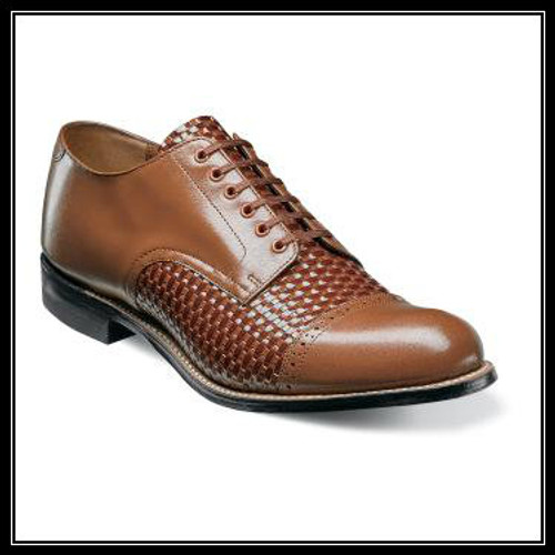 The Stacy Adams Madison Cap Toe Oxford combines decades of Stacy Adams heritage into a single shoe that is a guaranteed showstopper. Complete with woven print and kidskin leather uppers, this shoe tells its own story.Price are exclusive to online sales.