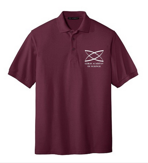 Elementary - Adult Short Sleeve Polo Burgundy