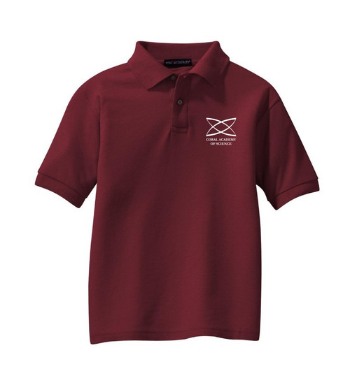 Elementary - Youth Short Sleeve Polo Burgundy