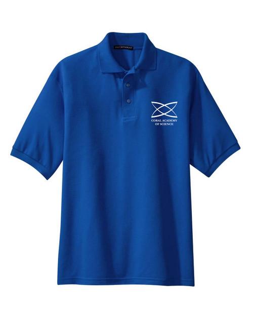 High School - Adult Short Sleeve Polo Royal Blue