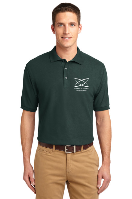 Middle School - Adult Short Sleeve Polo Green