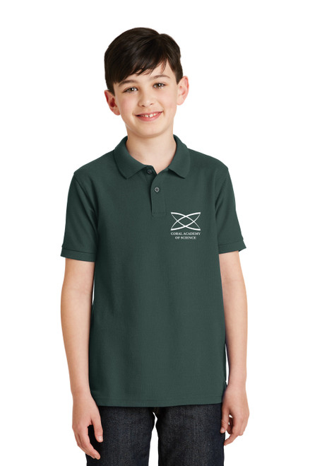 Middle School - Youth Short Sleeve Polo Green