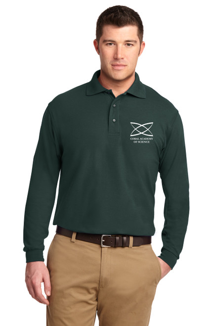 Middle School - Adult Long Sleeve Polo Green