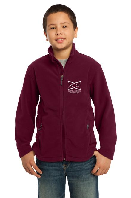 Elementary - Youth Jacket Burgundy