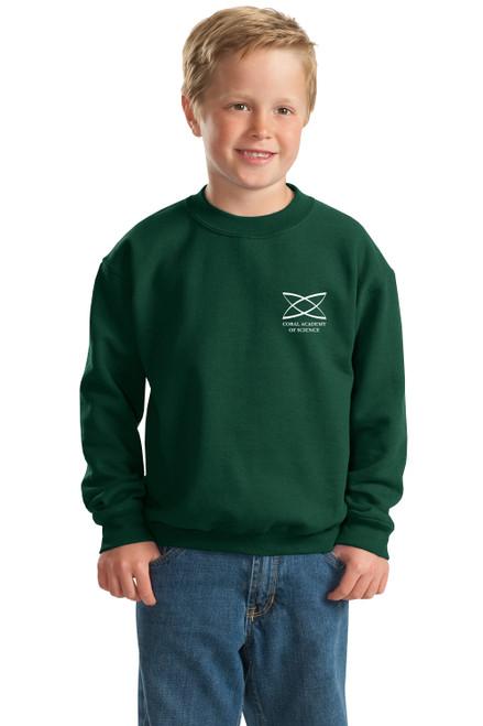 Middle School - Youth Crewneck Sweatshirt Green