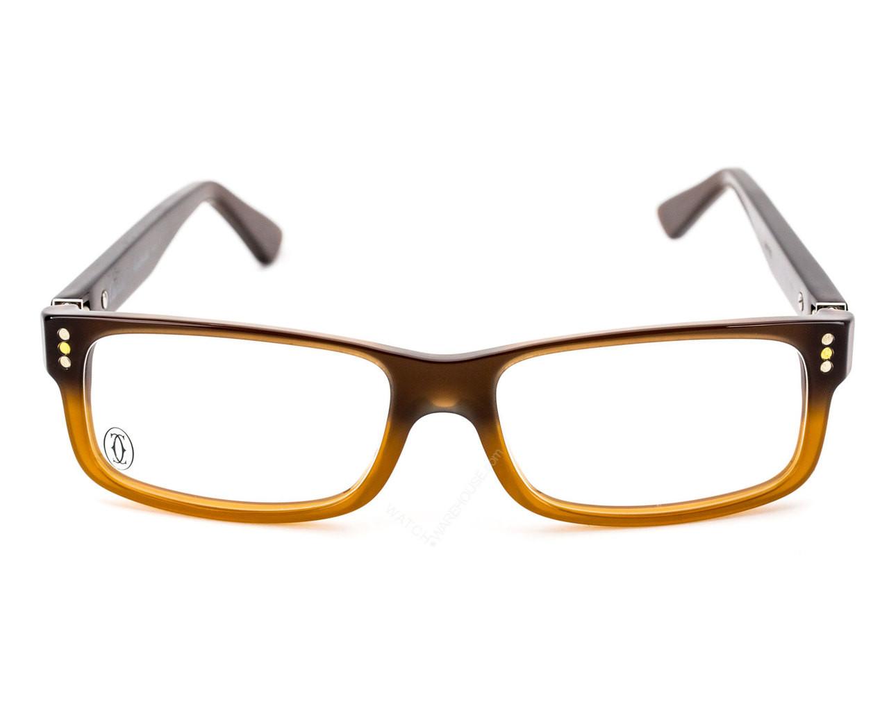 1e4b540d6ce46 T8100953 Cartier Premiere Two-Tone Cognac-Color Women s Eyewear