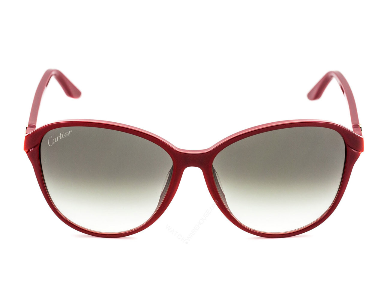 17b0c5279 ESW00104 Cartier Double C Décor Burgundy 60/15/140 Women's Sunglasses