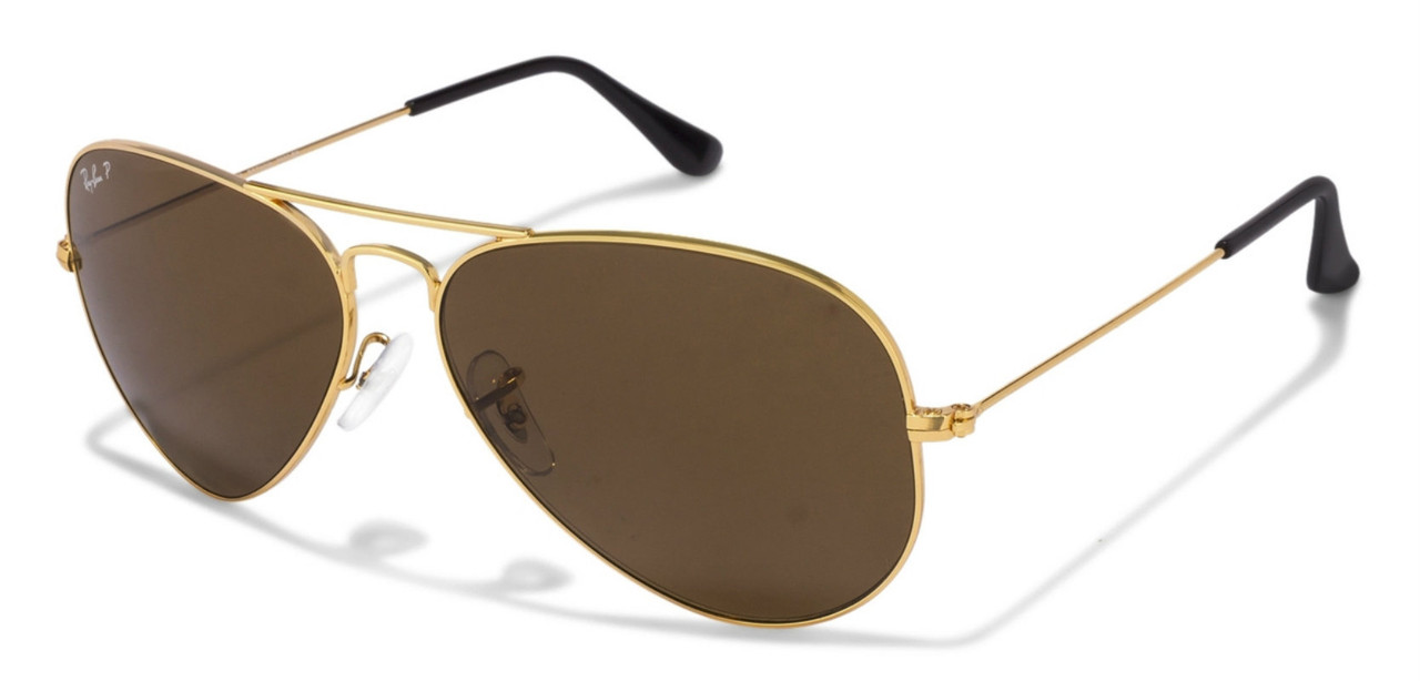 94613c5120 RB3025 001 57 Ray-Ban Aviator Classic Gold Metal BRN Lenses Sunglasses