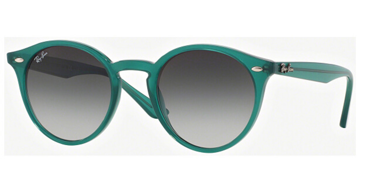da596f4c5d4 Ray-Ban Grey Gradient Round Green Frame 49MM Sunglasses RB2180 61648G