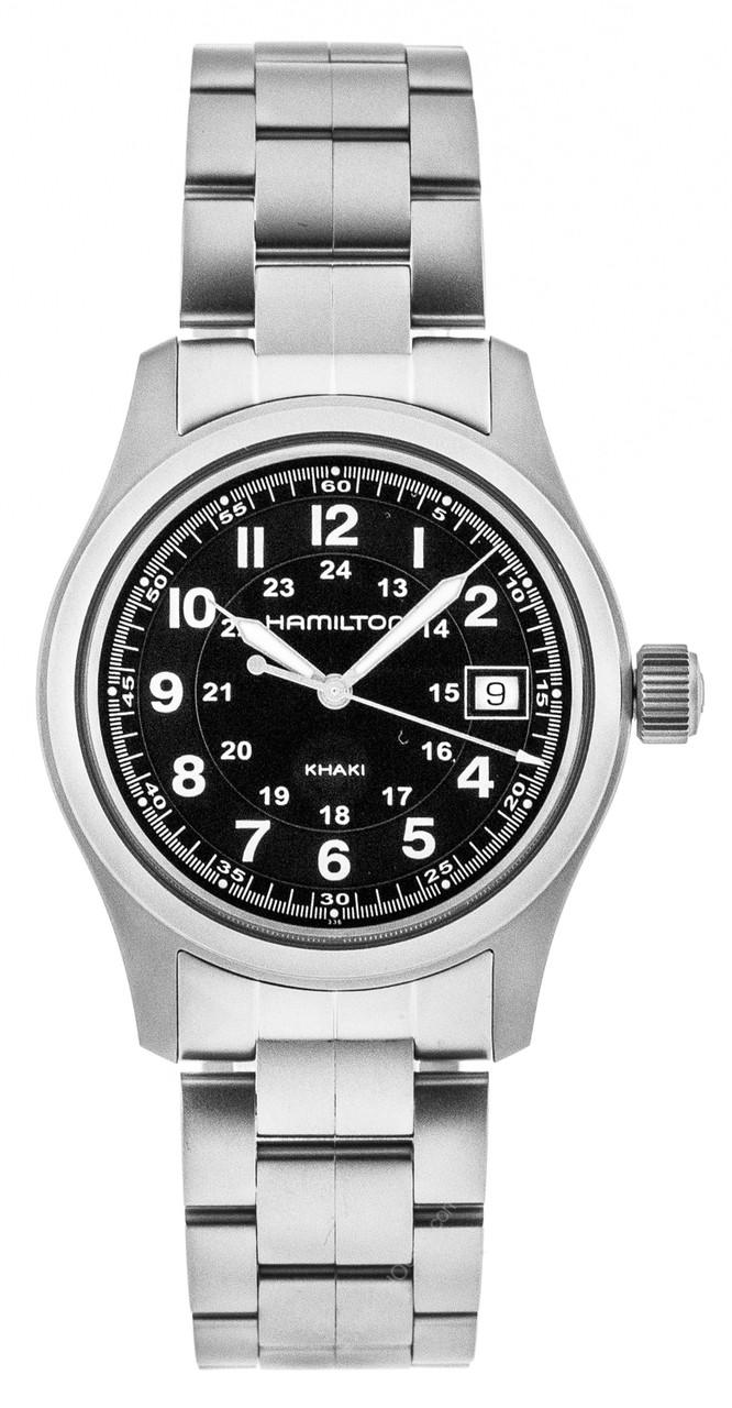 Hamilton Khaki Field Black Dial 38mm Quartz Men S Watch H68411133