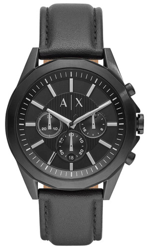 ARMANI EXCHANGE 44MM Chronograph S-Steel Black Dial Men's Watch AX2627