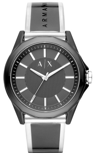 ARMANI EXCHANGE 44MM Black Dial Polyurethane Band Men's Watch AX2629