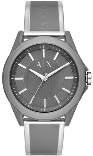 ARMANI EXCHANGE 44MM Gray Dial Polyurethane Band Men's Watch AX2633