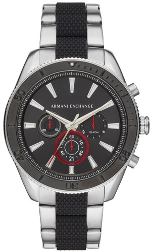 ARMANI EXCHANGE 46MM CHRONO Quartz Black Dial Men's Watch AX7106