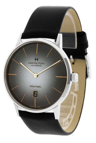 HAMILTON Intra-Matic 42MM Automatic Black Dial Men's Watch H38755781