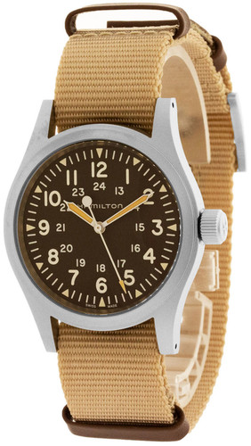 HAMILTON Khaki Field Mechanical 38MM Brown Dial Men's Watch H69429901
