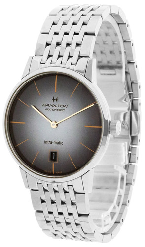 HAMILTON Intra-Matic 38MM Stainless Steel Black Dial Men's Watch H38455181